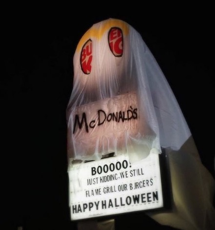 Burger King plays dress up as McDonald's for Halloween