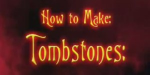 How to make a gravestone or tombstone