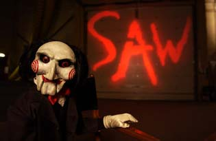 Saw 2 jigsaw decorations