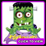 Halloween Frankenstein banner