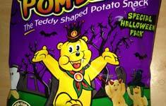 Pom-Bear Halloween snacks pickled onion
