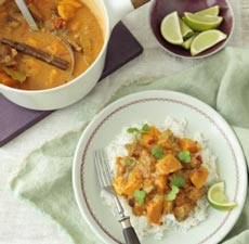 pumpkin and lamb curry