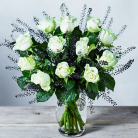 Halloween Flowers Glow in the Dark Roses Bouquet