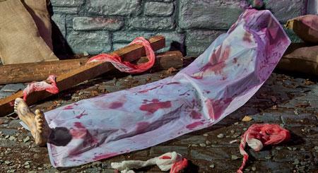 The Range Halloween 2017 corpse bag