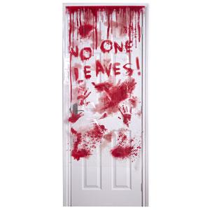 Wilko Halloween 2017 bloody door