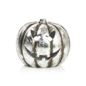 Wilko Halloween 2017 silver teracotta pumpkin