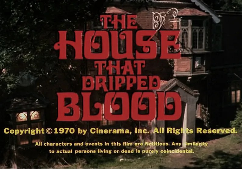 the House that Dripped Blood(1971)FULL MOVIE 1