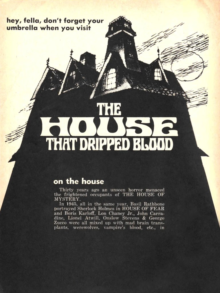 the House that Dripped Blood(1971)FULL MOVIE 2