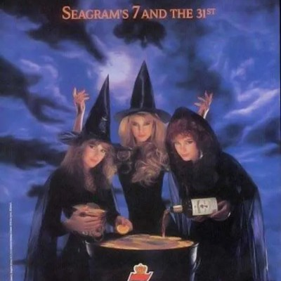 seagrams 7 halloween witch ad