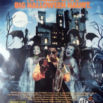 Miller Lite Halloween Haunted House ad, classic ads