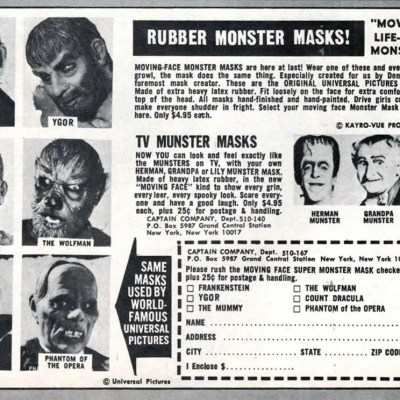 Classic and Vintage Halloween Publication Ads 6