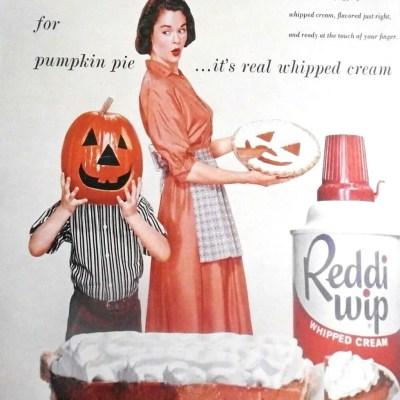 Halloween advertisement ad Reddi Wip