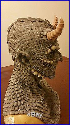 Cfx Grey Belial Gargoyle Silicone Mask Haunt Horror Demon
