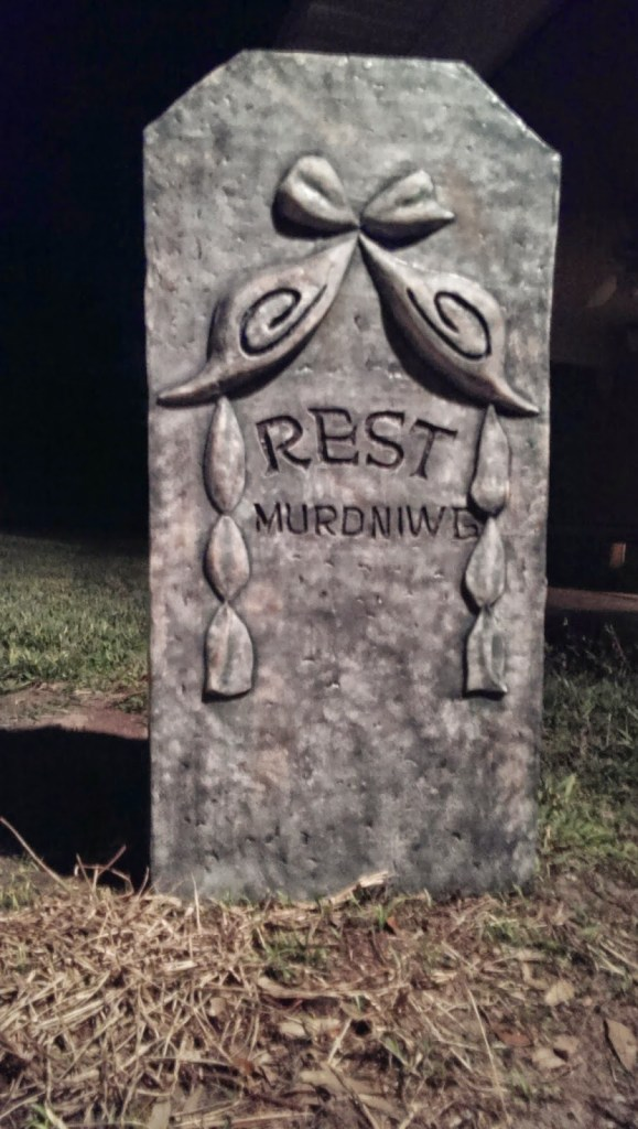 Moving Halloween Tombstone Prop After Finished and Painted
