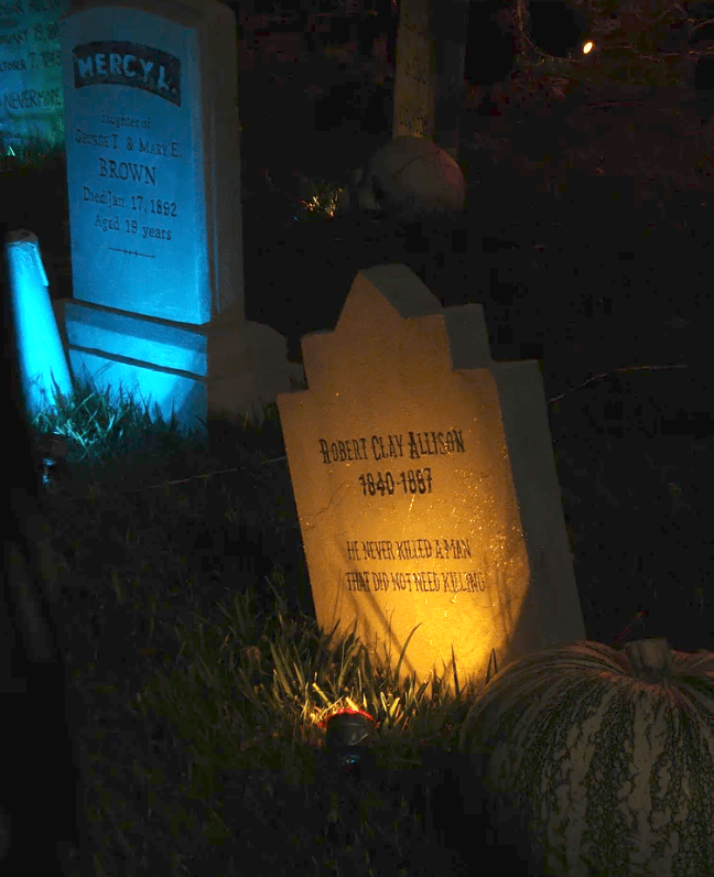 Evil Vines Cemetery Outdoor Yard Haunt Tombstone at Night