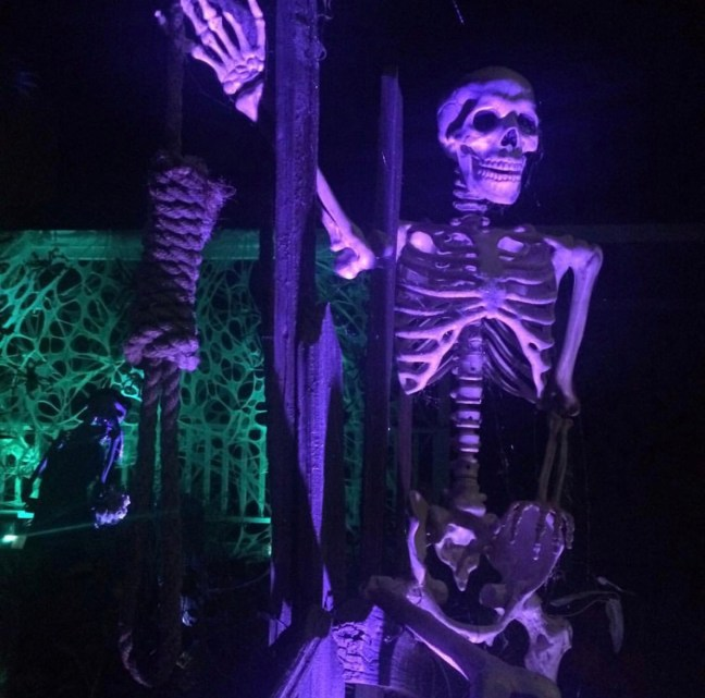 Evil Vines Cemetery Outdoor Yard Haunt Skeleton with Noose