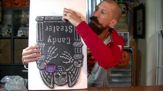 Upgrade Your Cheap Dollar Store Halloween Tombstones Cutting Foam