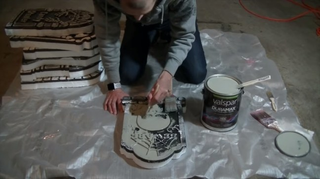 Upgrade Your Cheap Dollar Store Halloween Tombstones With Valspar Duramax