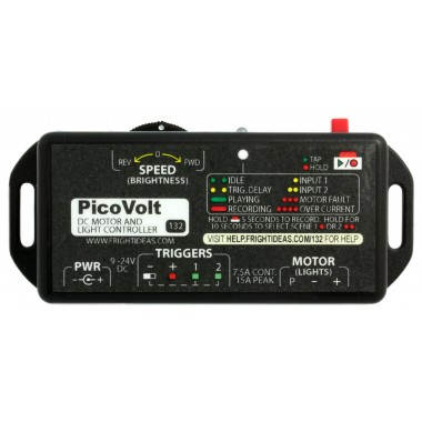 fright ideas dc motor and light controller