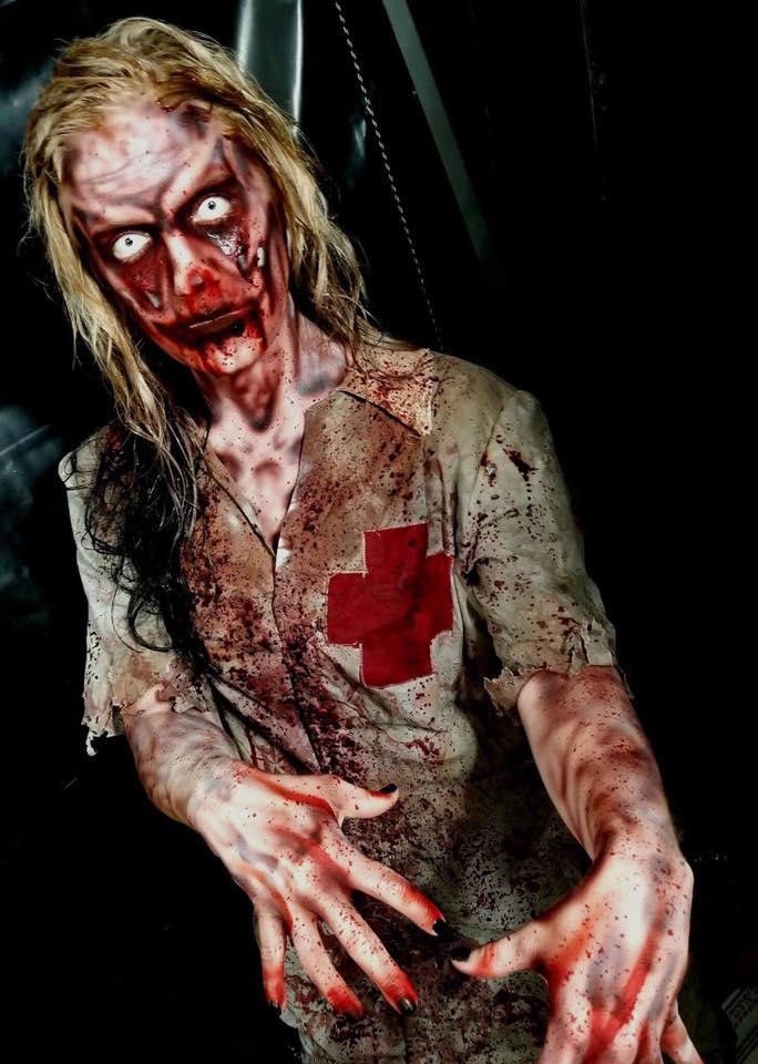 Chamber of Terror Haunted House Paramedic Zombie