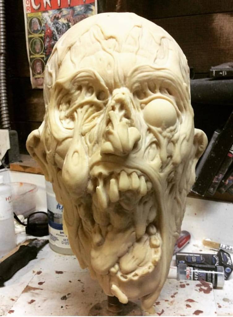 Nightmare Force Zombie Mask Unfinished
