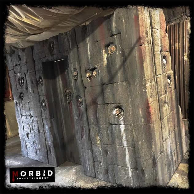 Morbid Entertainment Skull Scenic Wall