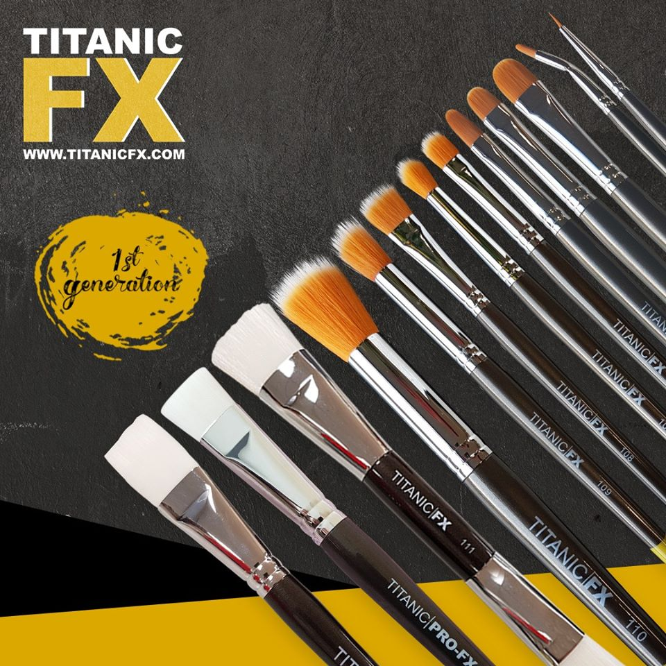 TItanic FX Special Effect Makeup Brushes