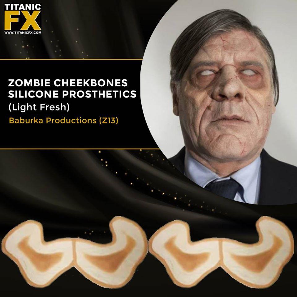 TItanic FX Special Effect Makeup Cheekbone Silicone Prosthetic