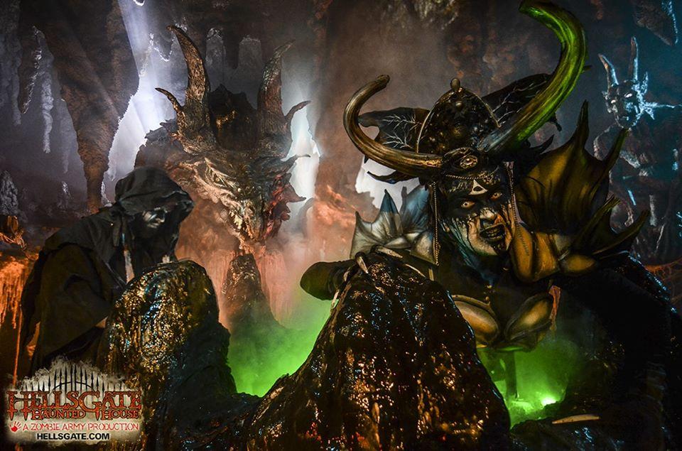 HellsGate Haunted House Demon Dragon Scene