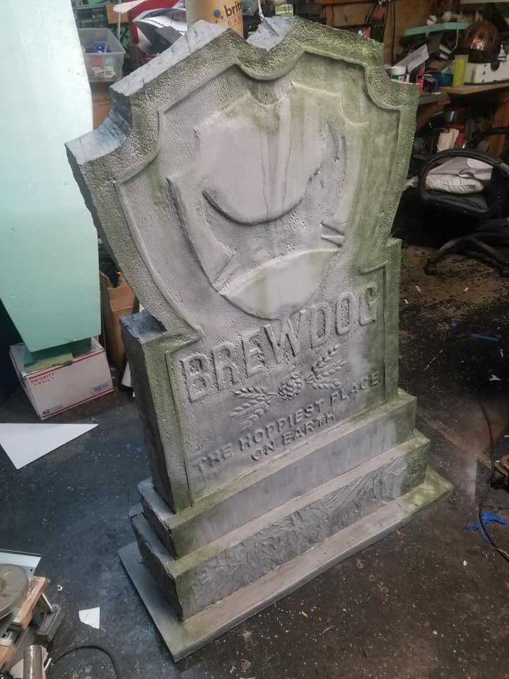 Sinister Signs Tombstone Prop