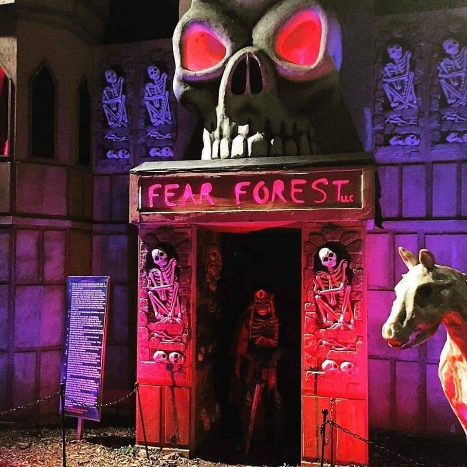 Fear Forest Haunted House and Trail Entrance