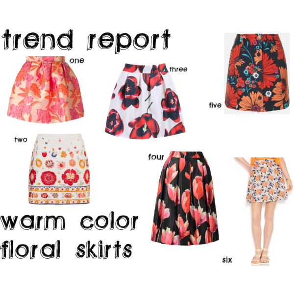 warm-color-floral-skirts - 1
