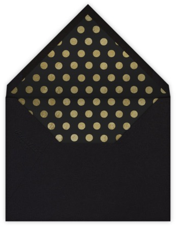 black and gold polka dot envelope liner paperless post