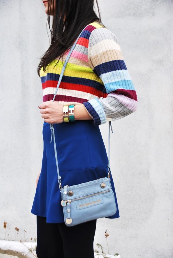 hermes bangles and gap stripe sweater
