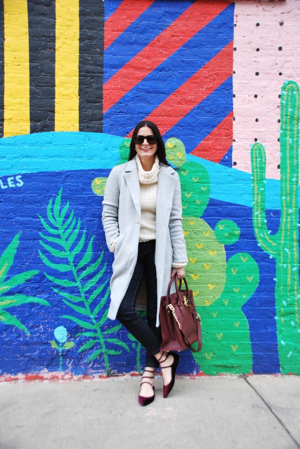 grey slouchy trench coat