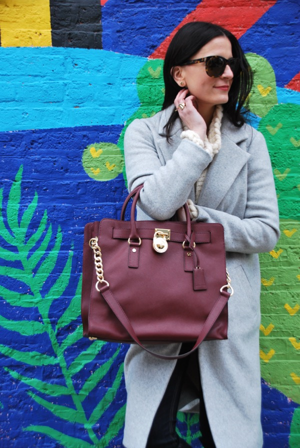 michael kors burgundy handbag