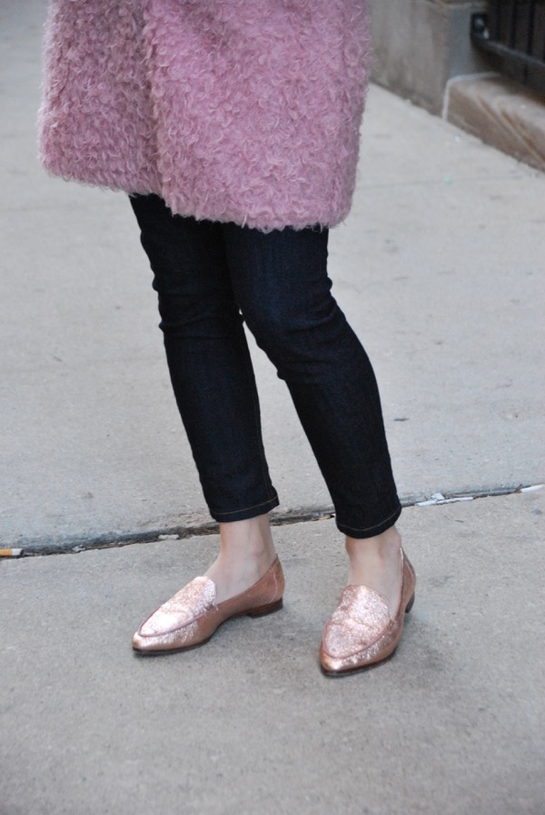 pink kate spade loafers