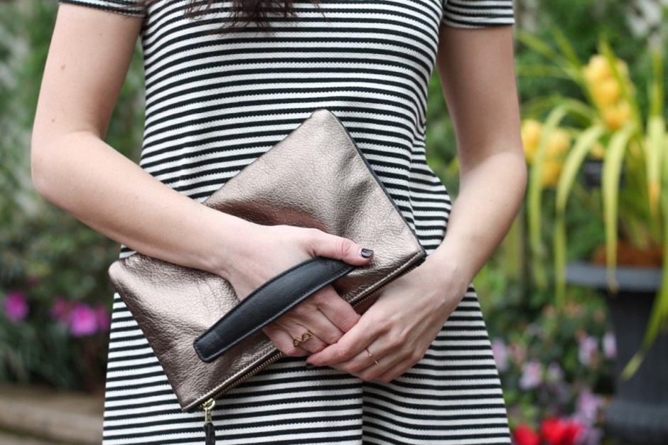 holly and tanager mini sidekick clutch black and pewter