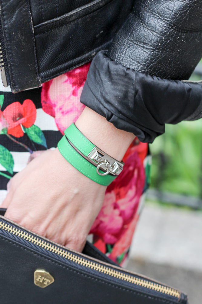 hermes wrap bracelet and holly and tanager clutch