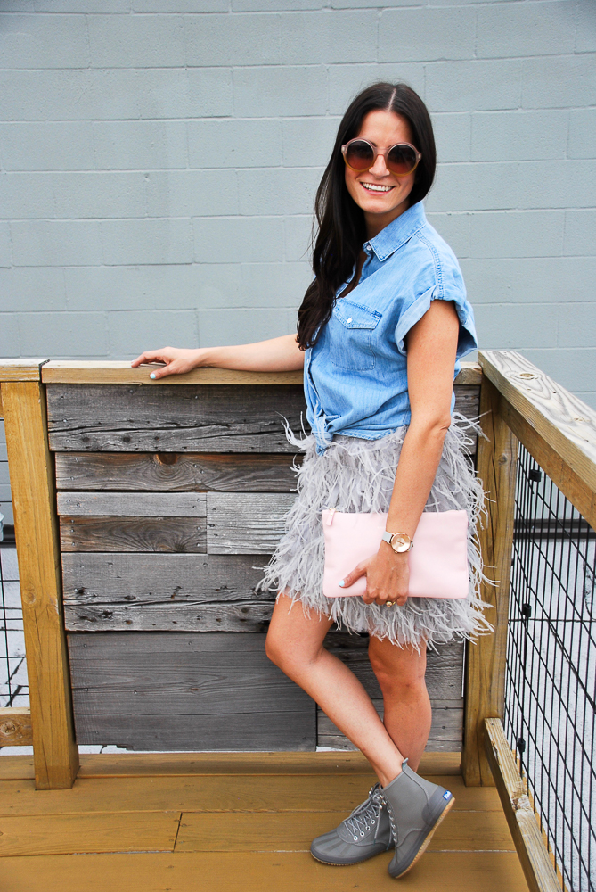 chambray and feathers