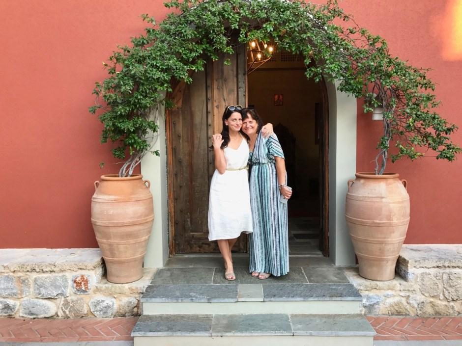 my mom and me at costa navarino