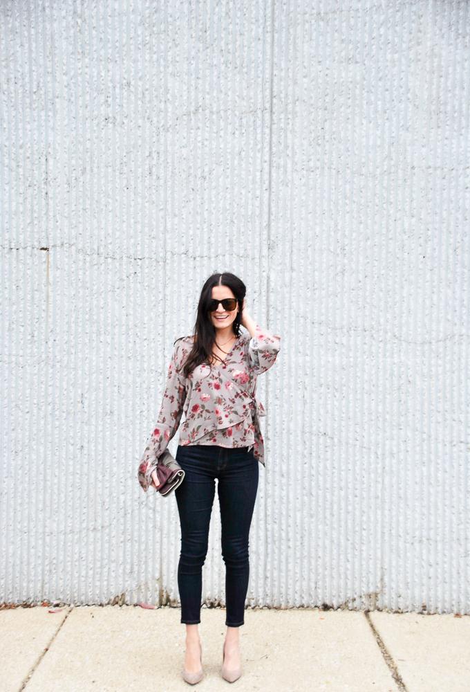 Ten Sixty Sherman Floral Wrap Bell Shirt