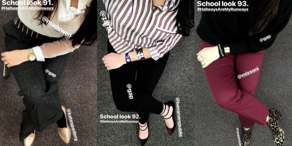school looks 91-93