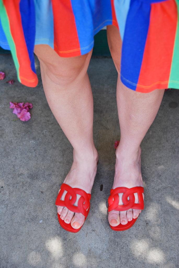 Orange Hermes Sandals