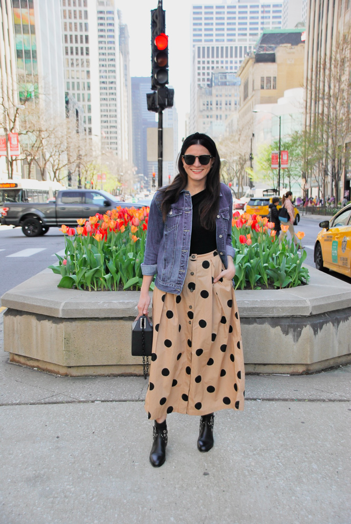whowhatwear collection polka dot maxi skirt