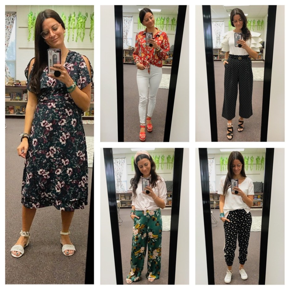 week two work outfits