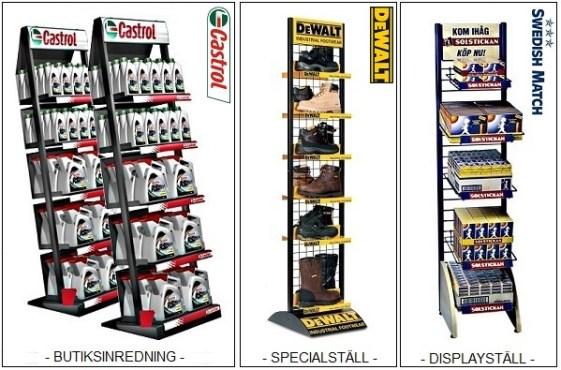 Vi tillverkar Produktställ – Displayställ - Kampanjställ