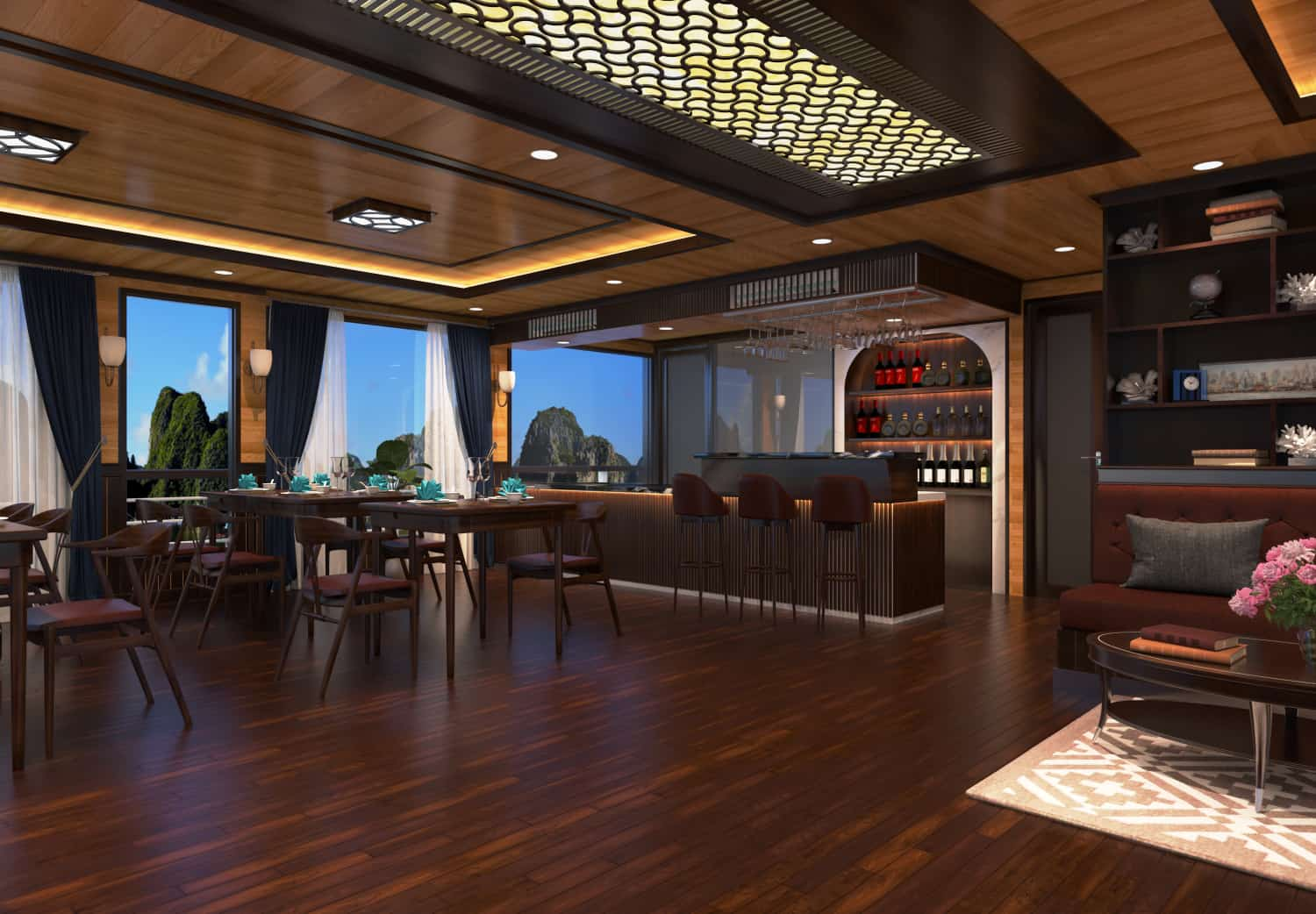 Halong serenity cruises restaurant-5