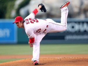 CJ Wilson delivers a pitch during a game against the New York Yankees at Angel Stadium on June 29, 2015 (Stephen Dunn/Getty Images)