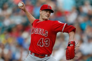 Garrett Richards delivers a pitch during the first inning of a game against the Seattle Mariners at Safeco Field on July 9, 2015 (Otto Greule, Jr./Getty Images)